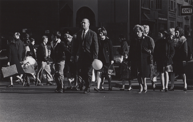 Untitled (Man carrying balloon) , c. 1960's  Vintage silver print  8 x 10 inches