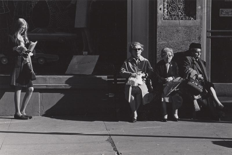 Untitled (Sidewalk scene) , c. 1960's  Vintage silver print  8 x 10 inches