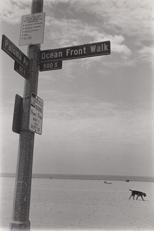 Untitled (Ocean front walk) , c. 1970's  Vintage silver print  8 x 10 inches