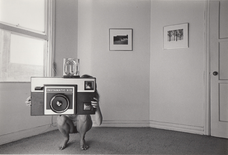 Untitled (oversized camera) from People in My Corner, Venice, CA , 1973  Vintage silver print  8 x 10 inches