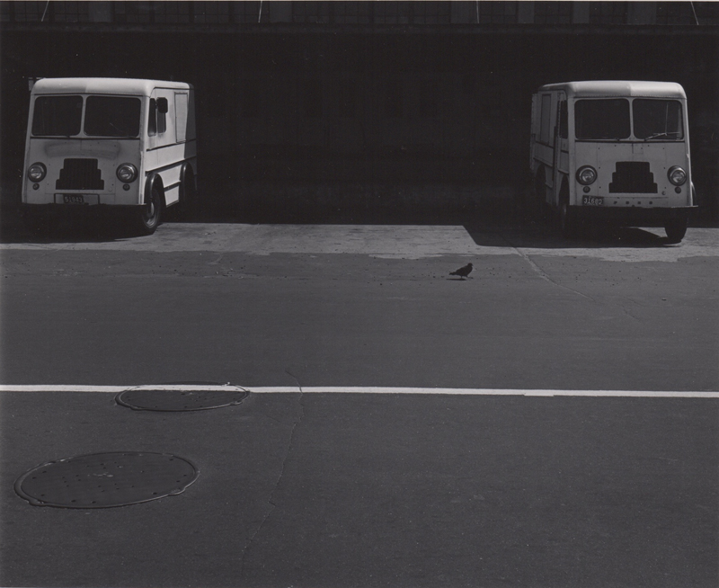 Ed Sievers   Untitled (two trucks) , c. 1960's Vintage silver print 10 x 8 inches