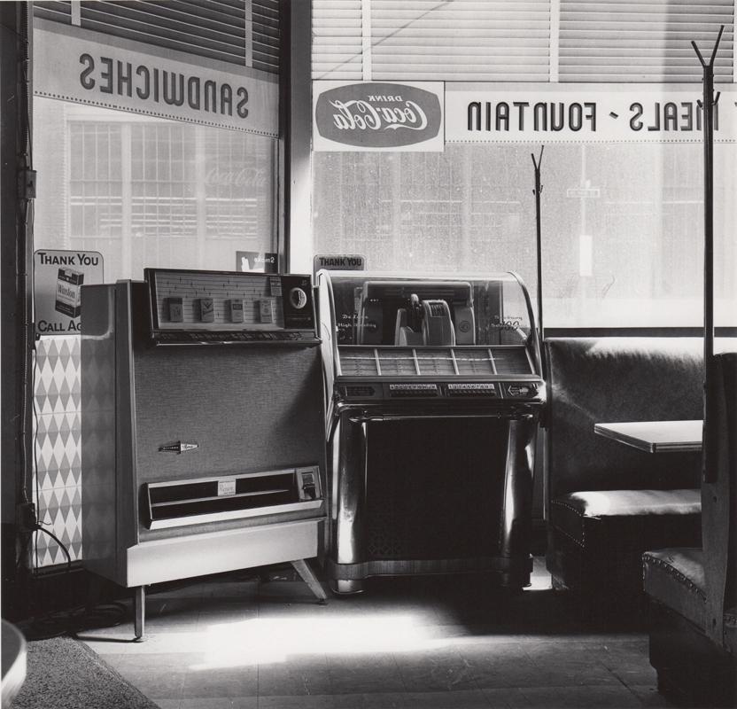 Ed Sievers   Untitled (jukebox in diner) , c. 1960's Vintage silver print 10 x 8 inches