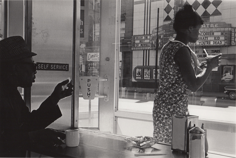 Ed Sievers   Untitled (two people in diner) , c. 1960's Vintage silver print 8 x 10 inches