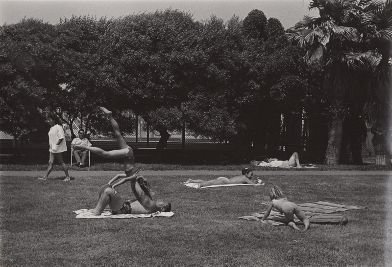 Ed Sievers   Untitled (people laying in park) , c. 1960's Vintage silver print 8 x 10 inches