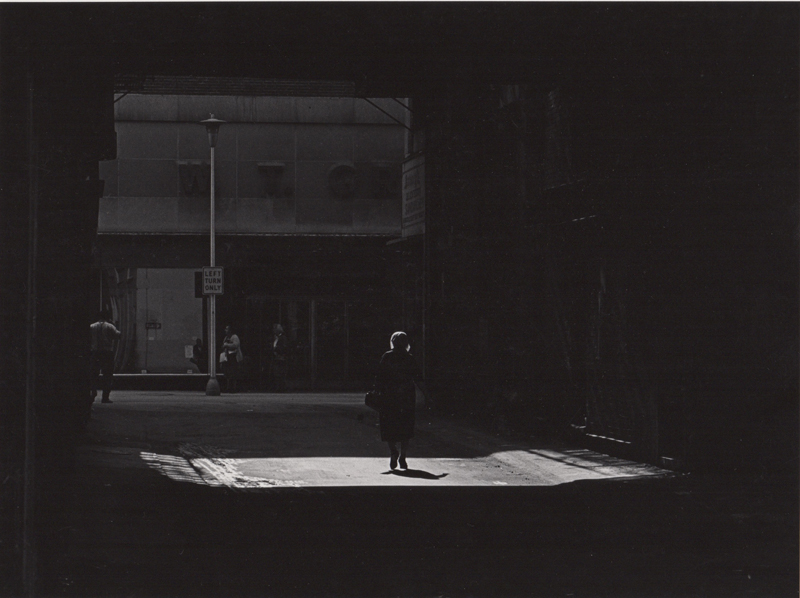 Ed Sievers   Untitled (woman in shadows) , c. 1960's Vintage silver print 8 x 10 inches