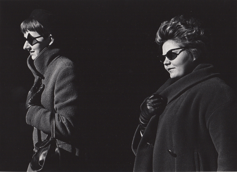 Ed Sievers   Untitled (two woman in sunglasses) , c. 1960's Vintage silver print 8 x 10 inches