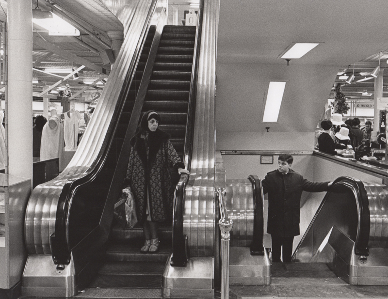 Ed Sievers   Untitled (from the Escalator Series) , c. 1960's Vintage silver print 8 x 10 inches
