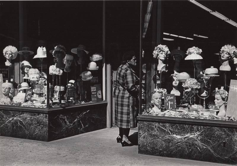 Ed Sievers   Untitled (hat store) , c. 1960's Vintage silver print 8 x 10 inches