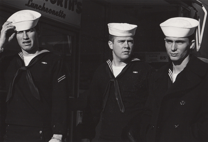 Ed Sievers   Untitled (three sailors) , c. 1960's Vintage silver print 8 x 10 inches