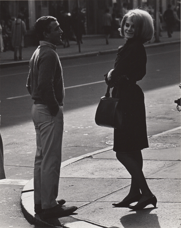 Ed Sievers   Untitled (man and women) , c. 1960's Vintage silver print 10 x 8 inches