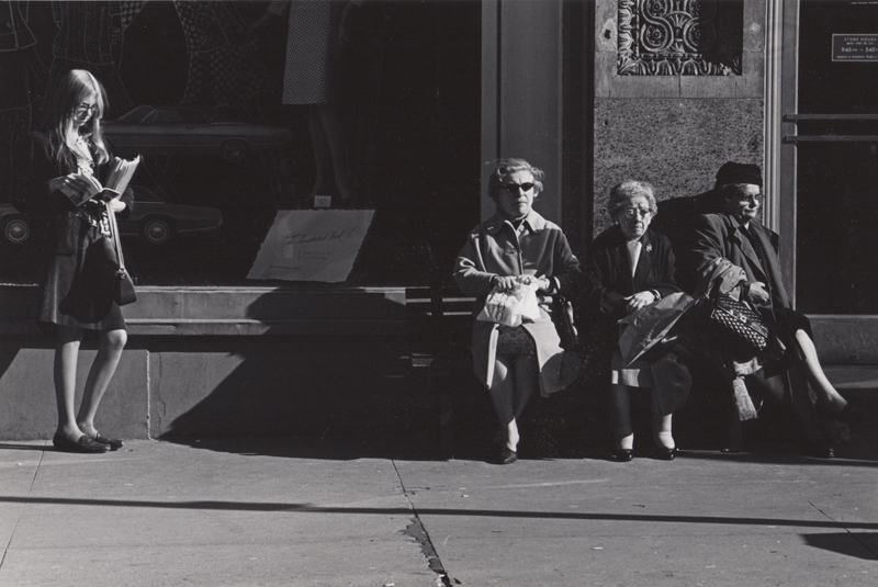 Ed Sievers   Untitled (sidewalk scene) , c. 1960's Vintage silver print 8 x 10 inches