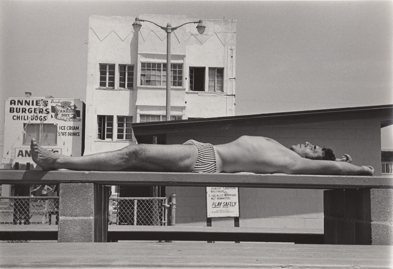 Ed Sievers   Untitled (man on bench) , c. 1970's Vintage silver print 8 x 10 inches