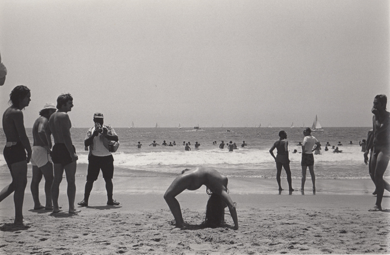Ed Sievers   Untitled (nude woman in bridge position), Venice Beach, CA , 1976 Vintage silver print 8 x 10 inches