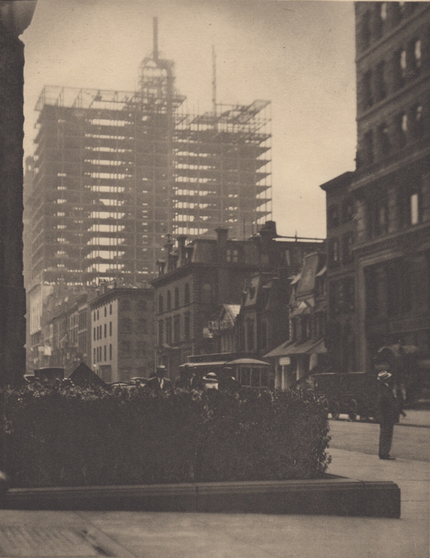 Alfred Stieglitz    Old and New New York (1910) , 1911  Photogravure  8 x 6 inches  Published in Camera Work Vol. 36, 1911