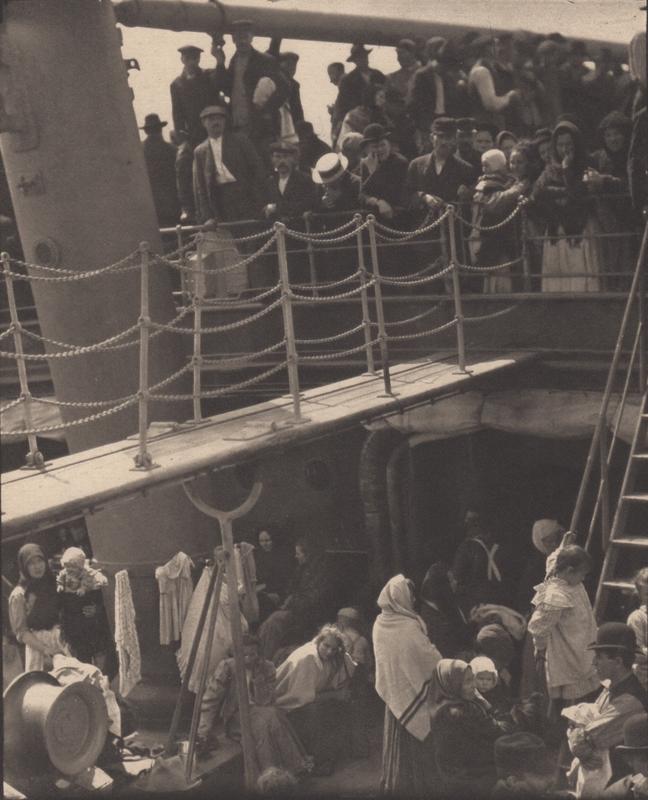 Alfred Stieglitz    The Steerage , 1907  Photogravure  7.75 x 6.25 inches  Published in Camera Work Vol. 36, 1911