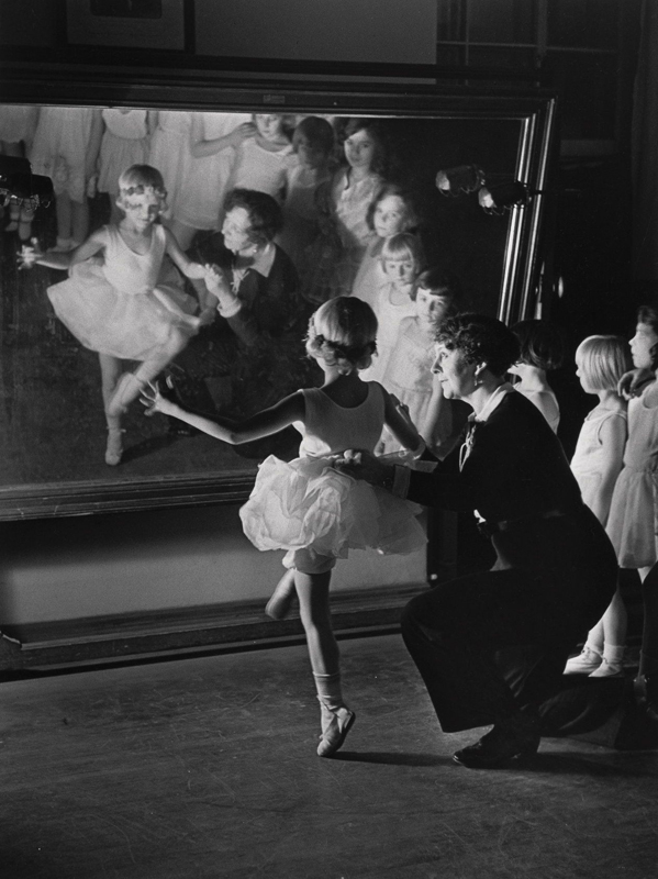 Alfred Eisenstaedt    First Lesson in Truempy Ballet School, Berlin , 1930  Silver print  20 x 16 inches  Edition of 250