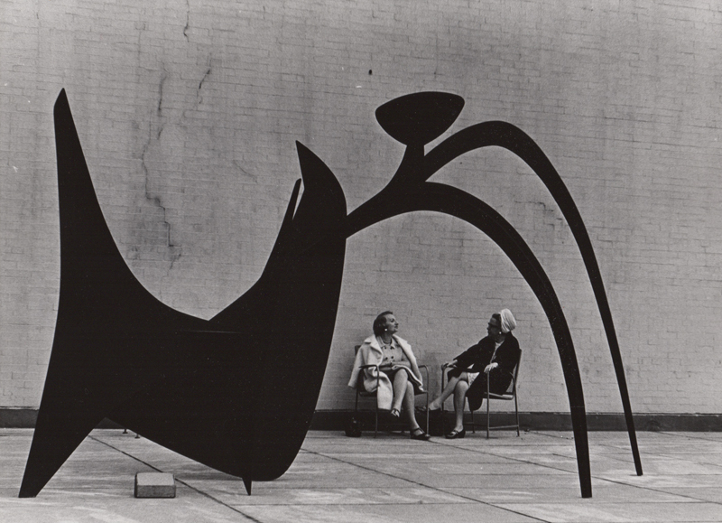 Untitled (Two women with sculpture) , c. 1960's  Vintage silver print  8 x 10 inches