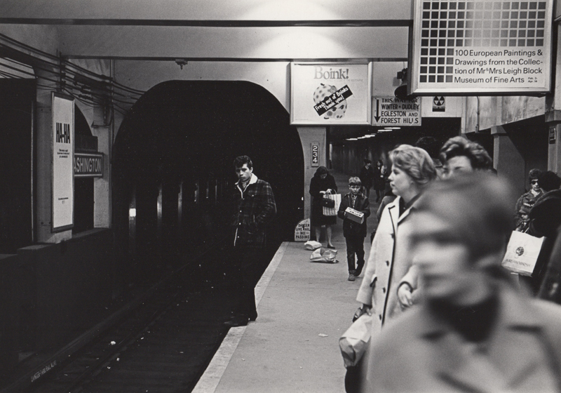 Untitled (Subway station) , c. 1960's  Vintage silver print  8 x 10 inches