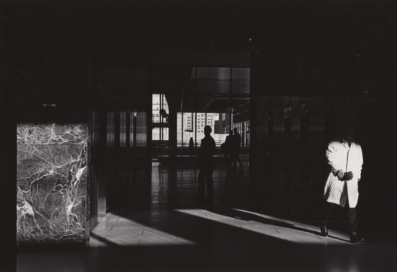 Untitled (marble lobby) , c. 1960's  Vintage silver print  8 x 10 inches