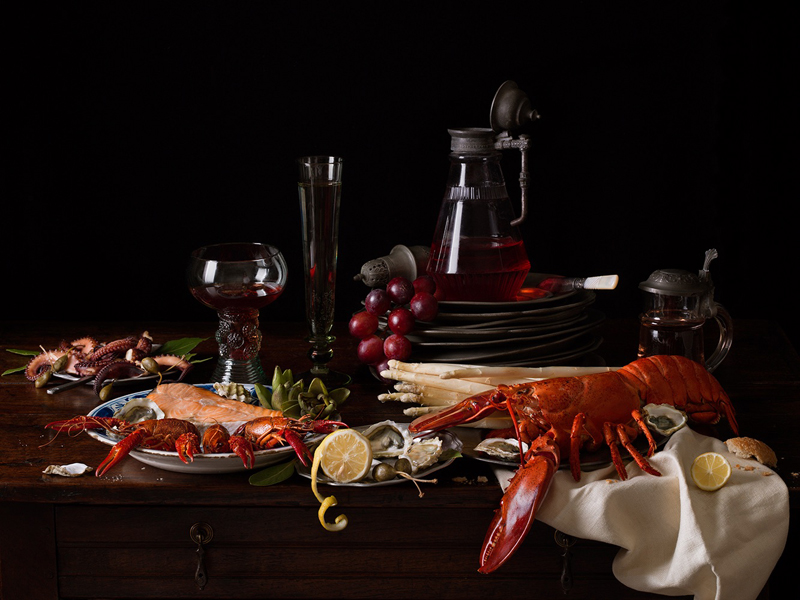 Still Life with Lobster and Crayfish , 2019 Archival pigment print  15 x 20 inches, edition of 15 22.5 x 30 inches, edition of 7 36 x 48 inches, edition of 5