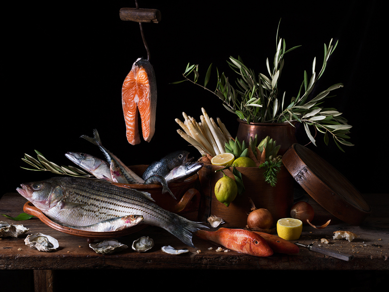 Still Life with Salmon , 2019 Archival pigment print  15 x 20 inches, edition of 15 22.5 x 30 inches, edition of 7 36 x 48 inches, edition of 5