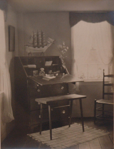 Untitled (Interior with writing desk) , 1921  Vintage platinum/palladium print  8 x 6 inches