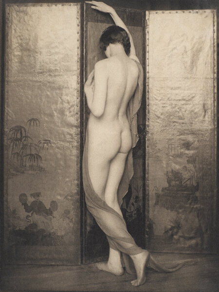 Academic Nude - Tower of Ivory , 1924  Vintage platinum/palladium print  8 x 6 inches