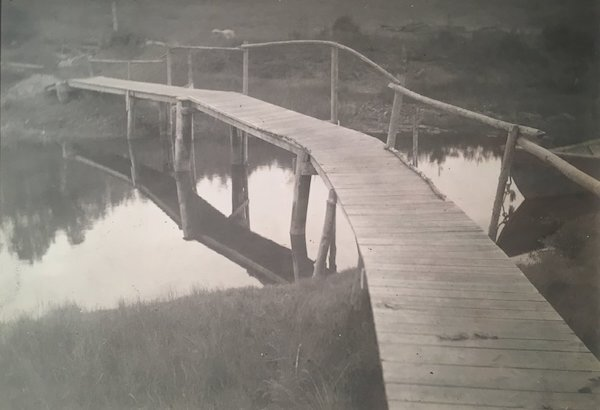 Untitled (Wooden Bridge) , 1915  Gelatin silver print  11.8 x 17 cm