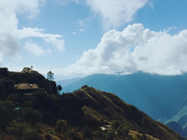 Tiny human, big sky // Incan Trail, Peru.