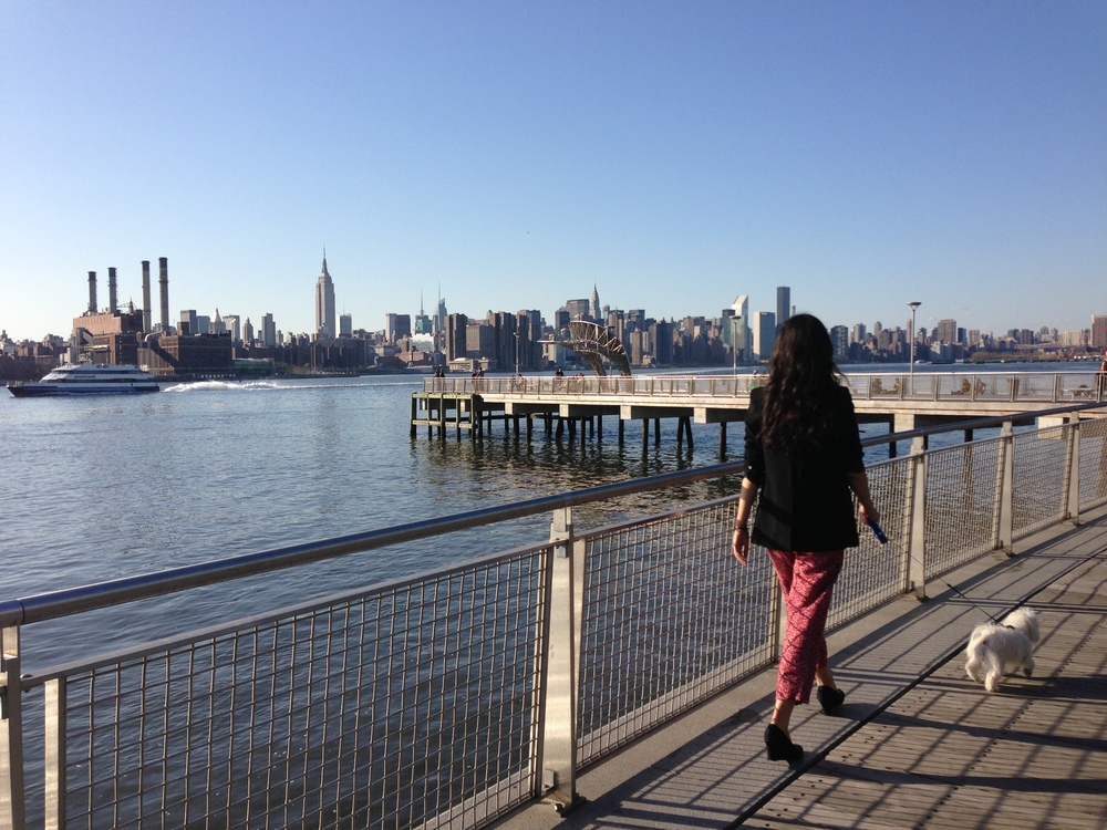 Out on the Williamsburg waterfront