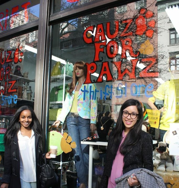 Cauz for Pawz storefront with my friend  Sunita