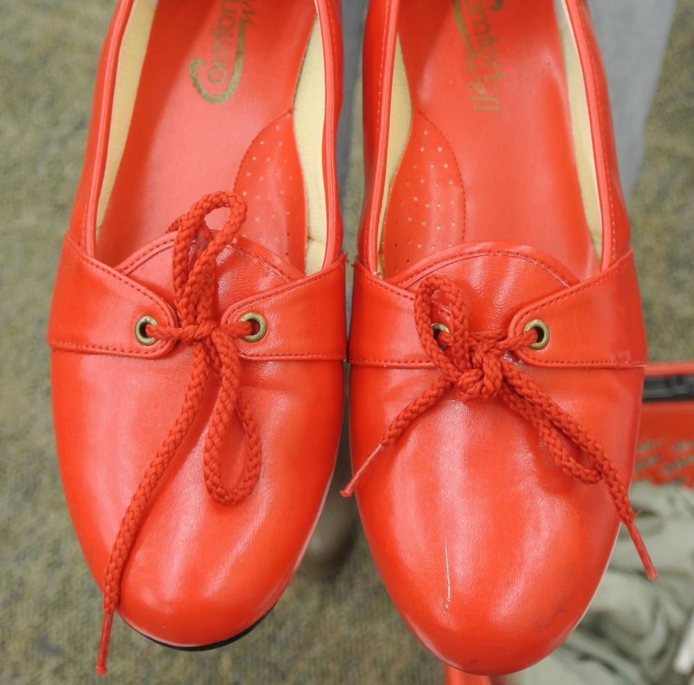 Cute red shoes that were a size too small!