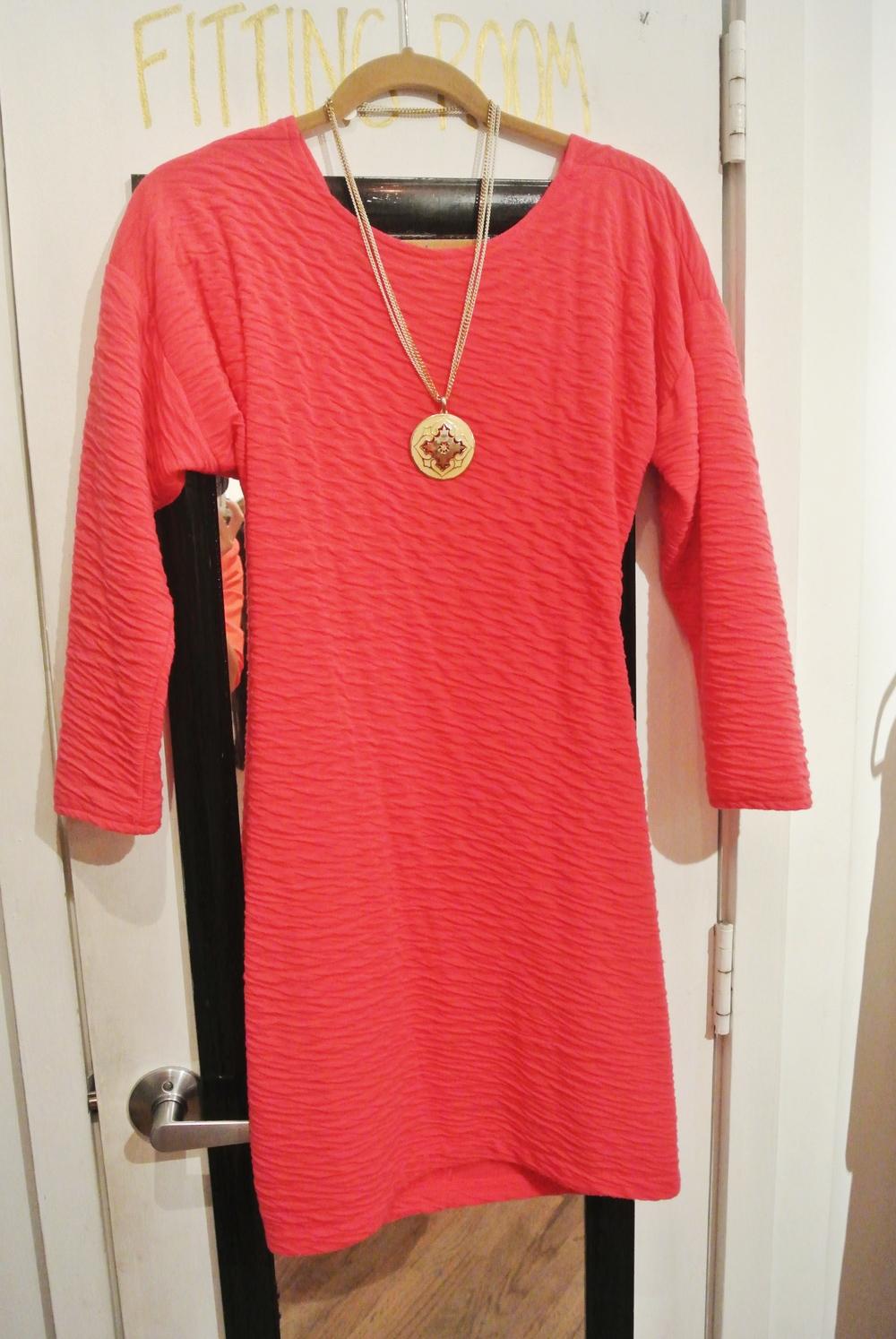Hot pink vintage dress, $17
