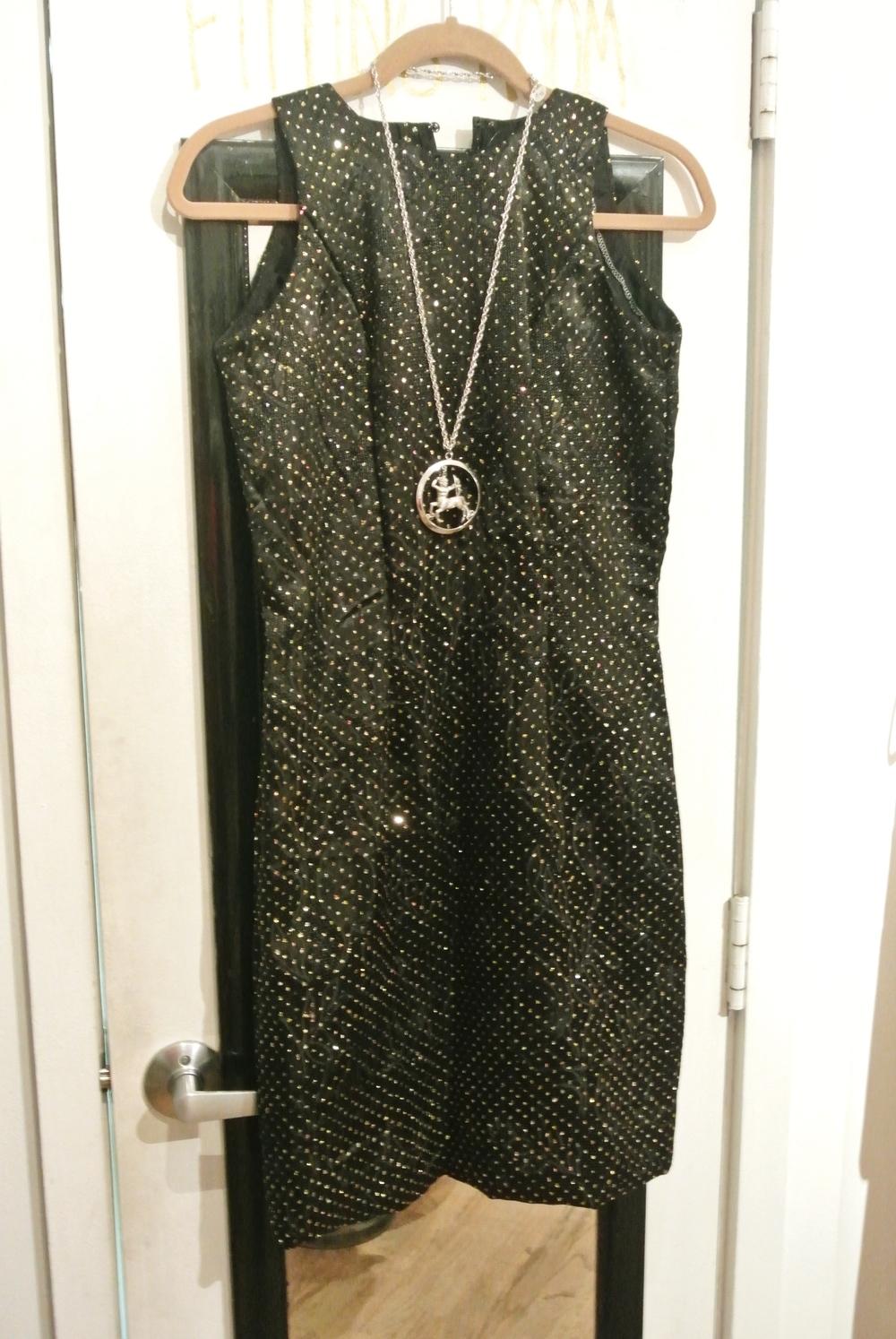 Velvet and glitter dress, $16