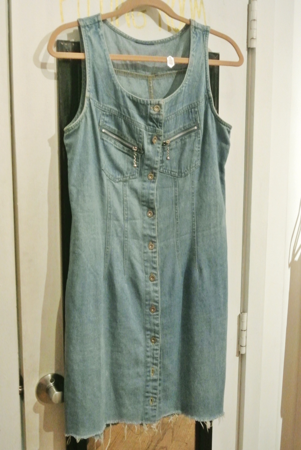 90s-style denim jumper, $12