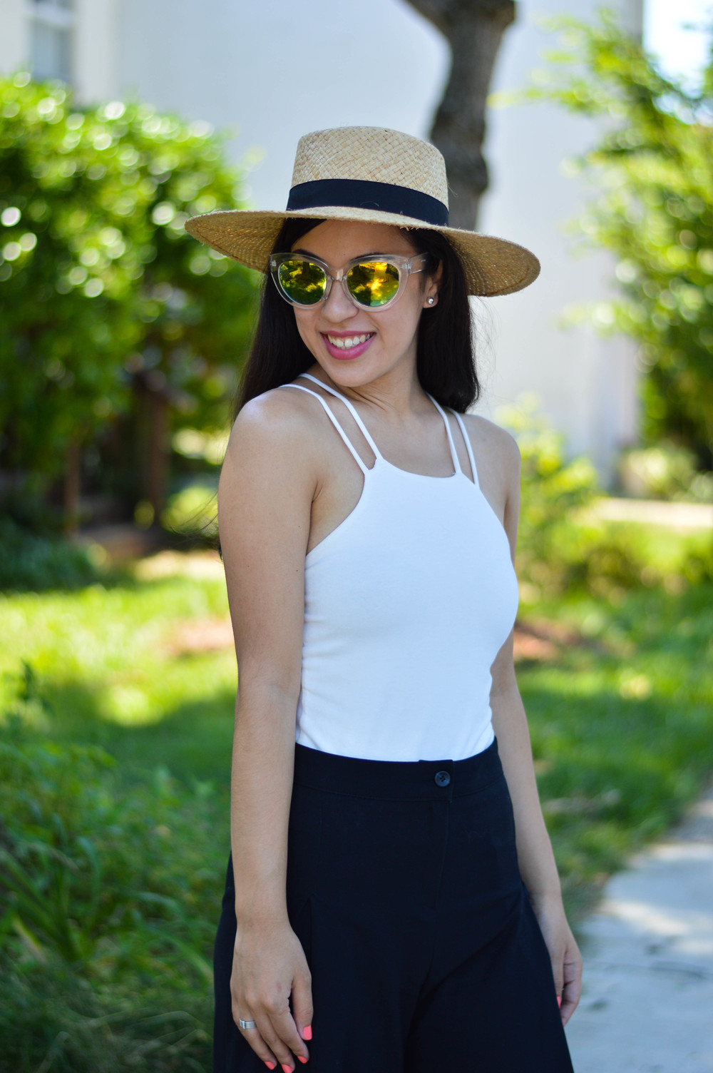 blogger boater hat