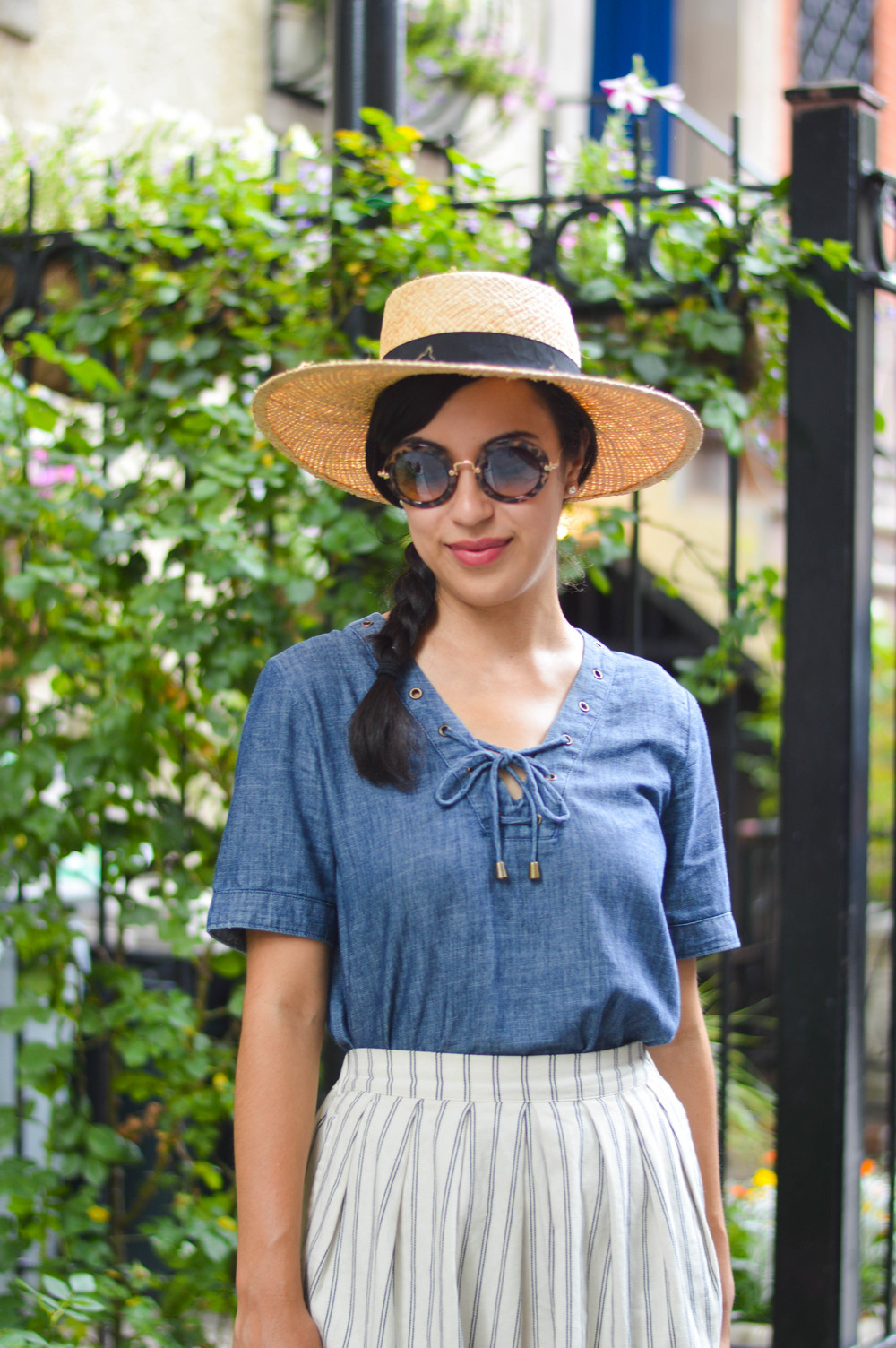 boater hat blogger style