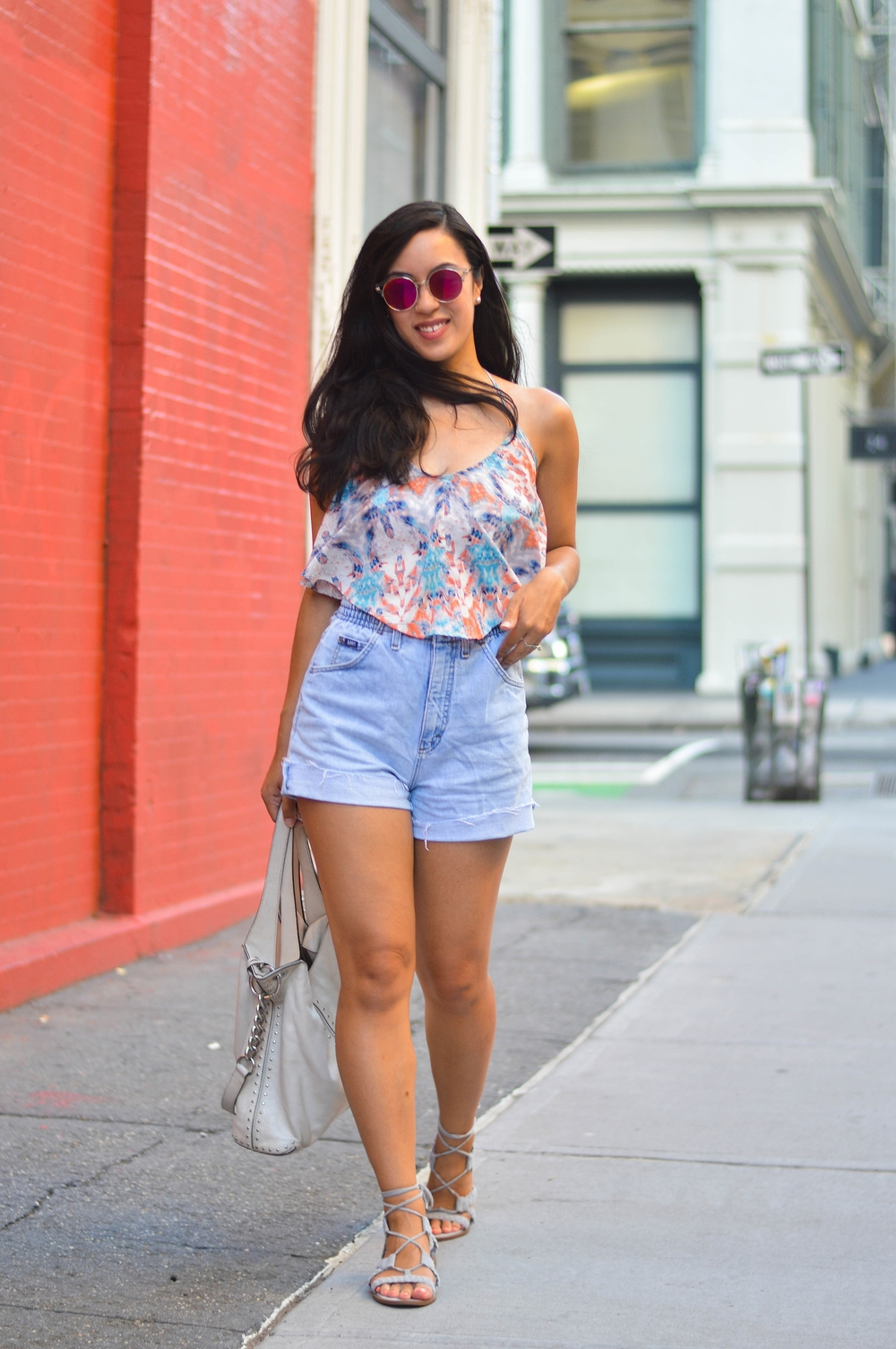 thrifted cutoffs fashion blogger