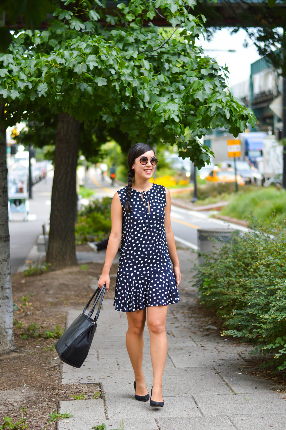 polka dot mango dress