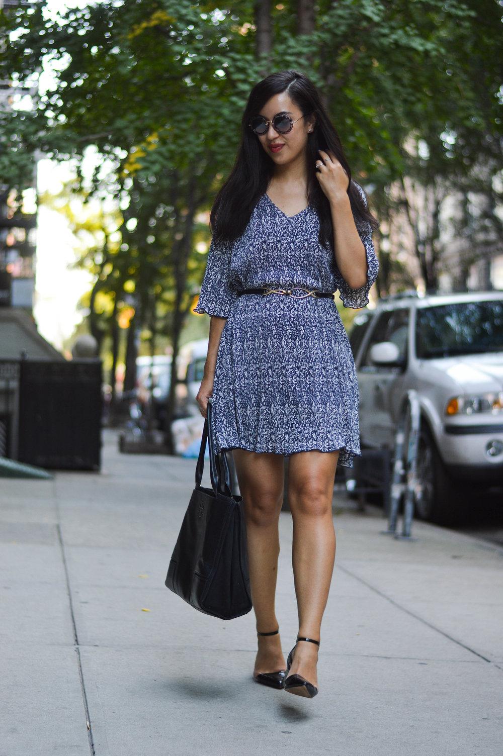 mango dress blogger