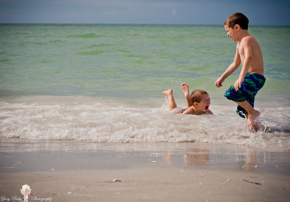 My entry for this week's theme at I Heart Faces - Rain & Water Challenge Nicholas and Carmine wet sandy chuckles! Sanibel, Florida 2014