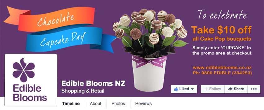 The image as it appears on the Edible Blooms Facebook page