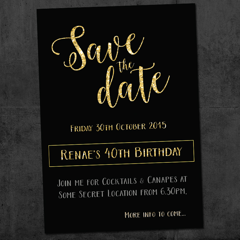40th Save the Date Invitation