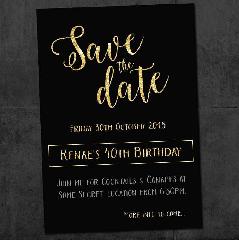 40th Save the Date Invitation