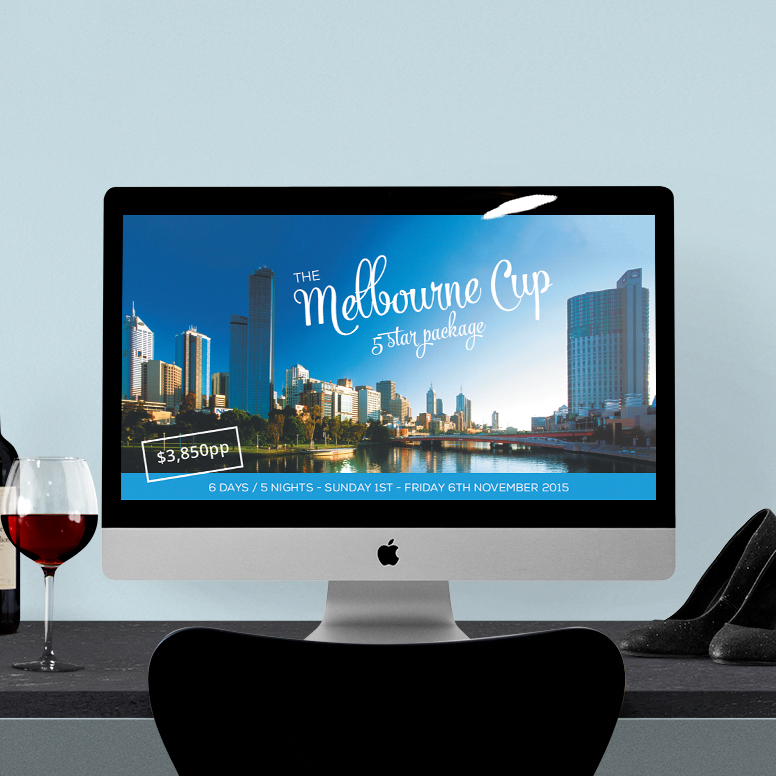 Venture Travel | Melbourne Cup graphics for print and web