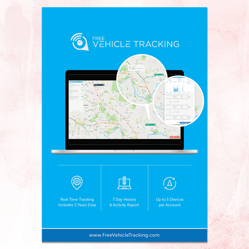 Free Vehicle Tracking | A4 Flyer