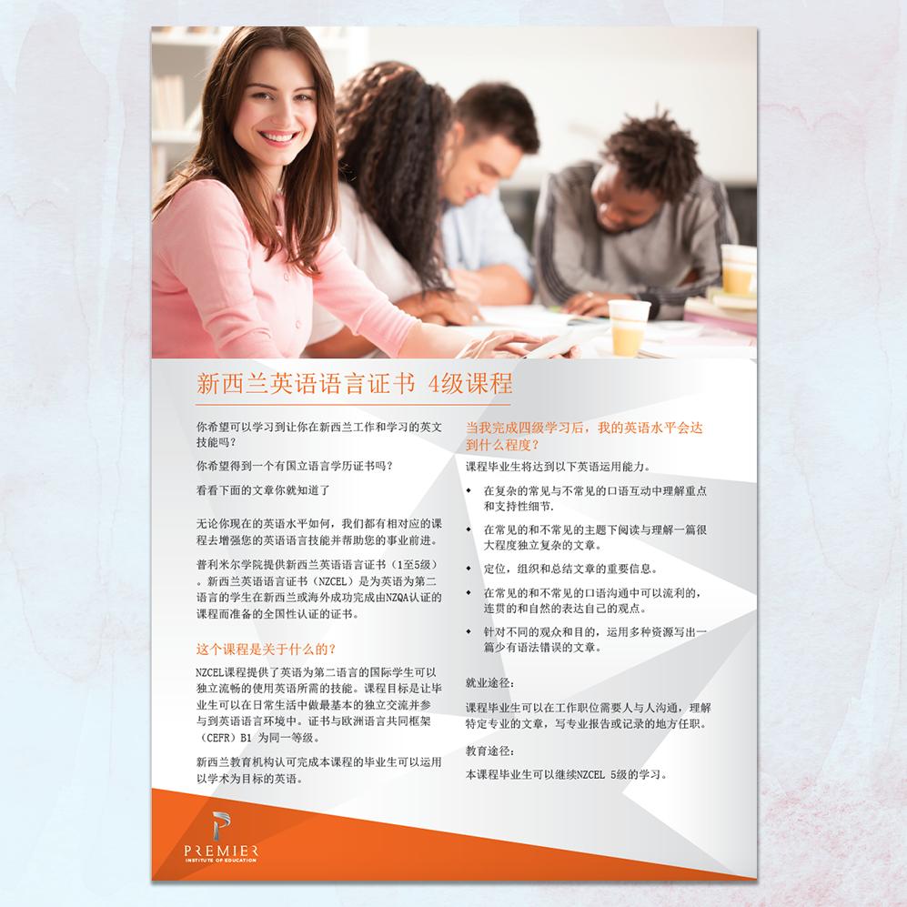 Premier Institute of Education | A4 Flyer