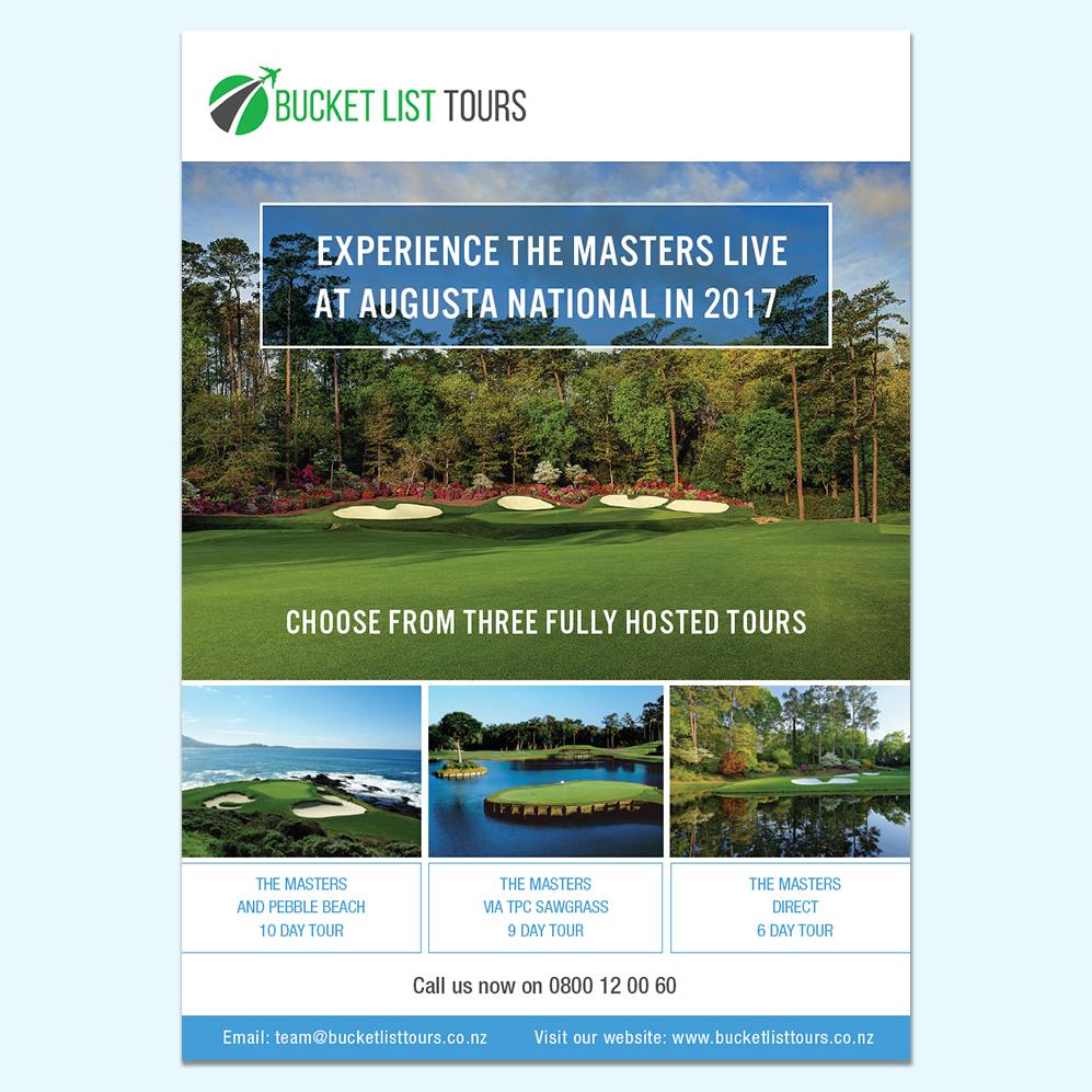 Bucket List Tours | Brochure Cover