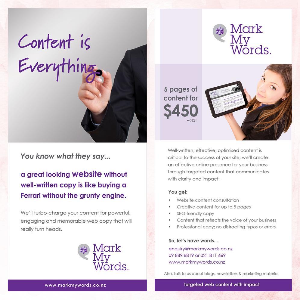 Mark My Words | DL Flyer