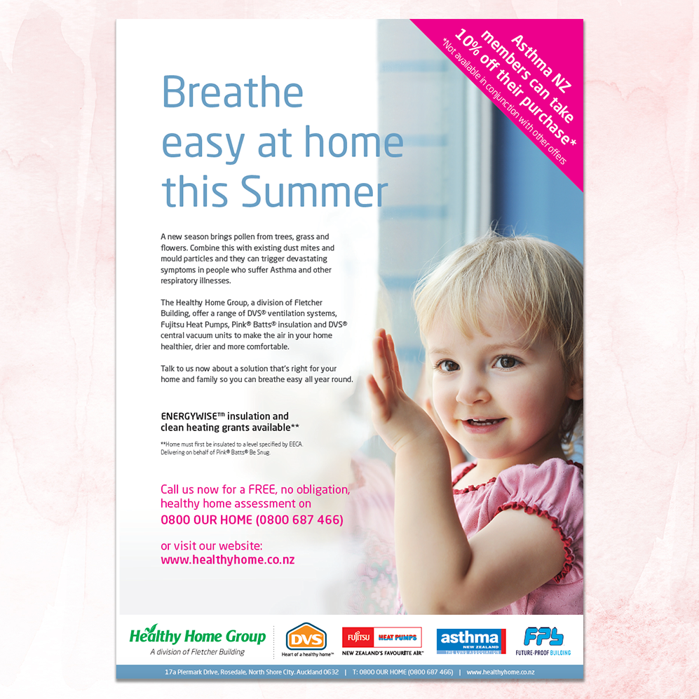 DVS | Asthma NZ Magazine Advertisement